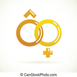 Wedding icon  - golden rings