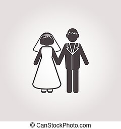 wedding icon on white background