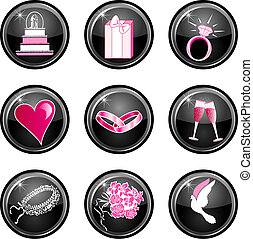 Wedding Icons 4 - Glossy, also available in other sets.