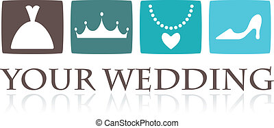 Wedding icons and graphic elements