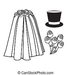 wedding icons over white background vector illustration