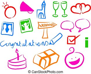 Wedding icons - simple wedding icons