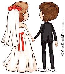 Wedding - Illustration of a wedding ceremony