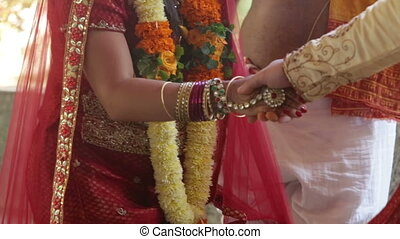wedding india ceremony walk