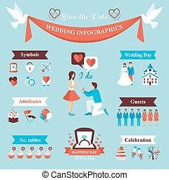 Wedding Infographics Set