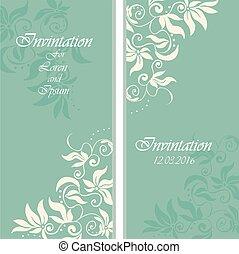wedding invintation or party invinatation card