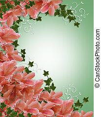 Wedding invitation azalea floral