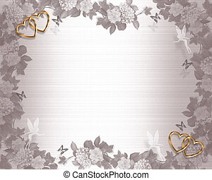 Wedding Invitation Background Fairies - Illustration...