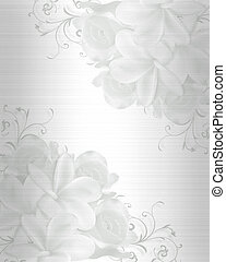 Illustration embossed flowers design element for Valentine , wedding invitation background with copy space.