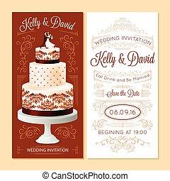 Wedding Invitation Banners Set
