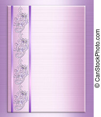 Wedding invitation border elegant lavender