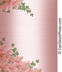Wedding Invitation Border Pink satin