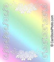 Wedding Invitation Border Rainbow