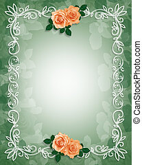 Wedding Invitation Border Roses