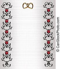 Wedding invitation border scrolls