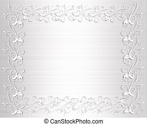 Wedding Invitation Border White Sat