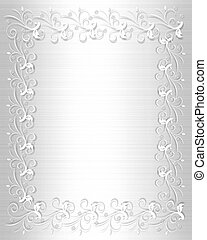 Wedding Invitation Border White