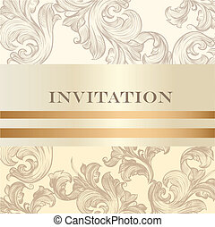 Wedding invitation card for design - Vector hand drawn...