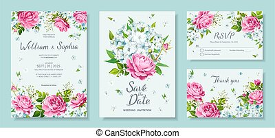 Wedding Invitation card - Wedding invitation card template. ...