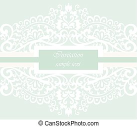Wedding Invitation card with lace ornament