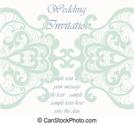 Wedding Invitation card with ornaments