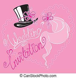 wedding invitation card with weddin