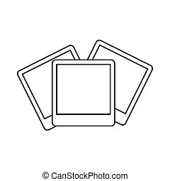 Wedding invitation cards icon, outline style