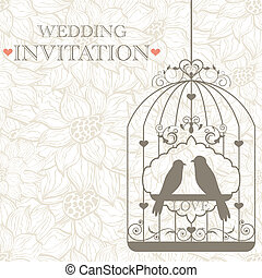 Wedding invitation - Vector pattern for wedding invitation