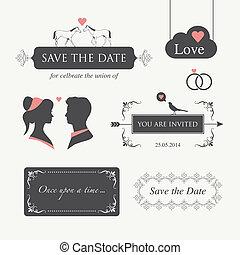 wedding invitation design element e