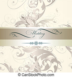 Wedding invitation design  in classic style