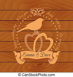 Wedding invitation design template.
