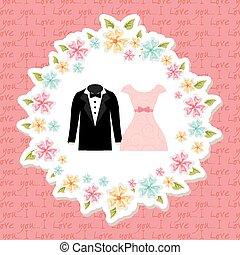 wedding invitation design, vector illustration eps10 graphic...