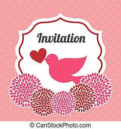 wedding invitation design, vector illustration eps10 graphic...