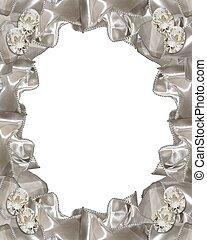 Wedding invitation Diamonds ribbons