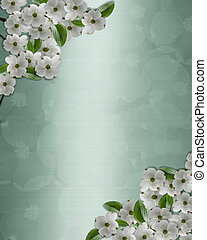 Wedding invitation Dogwood Border
