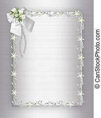 Wedding Invitation elegant border - Illustration design ...