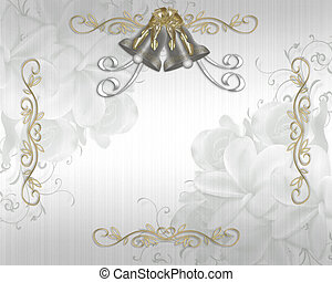 Wedding Invitation elegant satin