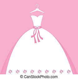 Wedding Invitation - Beautiful wedding gown invitation