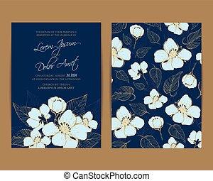 Wedding Invitation. Floral Background