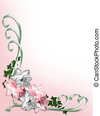 Wedding Invitation Floral Border