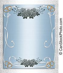 Wedding Invitation Floral Border Sa