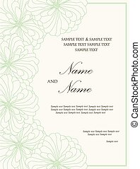 Wedding invitation floral card