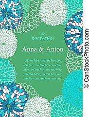 Wedding invitation. Floral Frame.