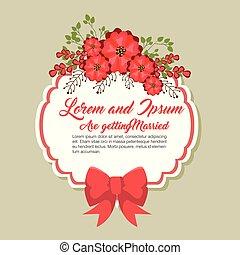 wedding invitation floral frame