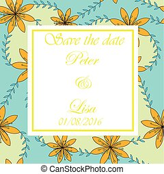 Wedding invitation flowers background