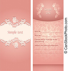 Wedding invitation, flowers ornament