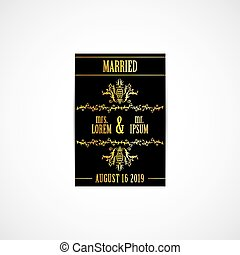 Wedding Invitation Golden Card