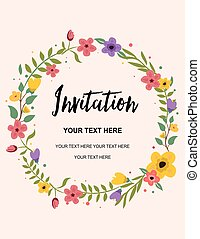 Greeting card background wedding invitation vector illustration wedding invitation greeting card colorful vector background template illustration design stopboris Choice Image