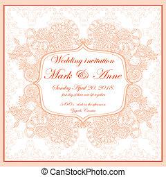 Wedding invitation - head page