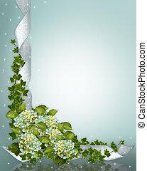 Wedding invitation Hydrangea